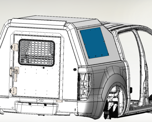 CAD Render of Security Vehicle Canopy